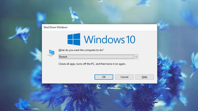 Dùng phím tắt Alt + F4 để mở Menu tắt máy nhanh chóng