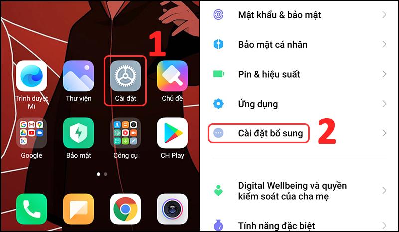 Thay đổi Ngày và Giờ trên thiết bị Android