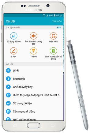 thao tác một tay trên Samsung Galaxy Note 5