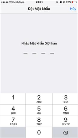 Nhập mật khẩu bật kỳ yêu cầu 4 số