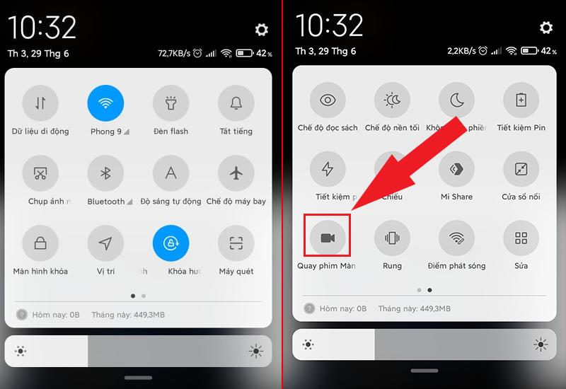 Quay màn hình trên Android