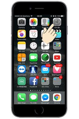 """Vào """"Cài Đặt"""" trên iPhone 6s"""