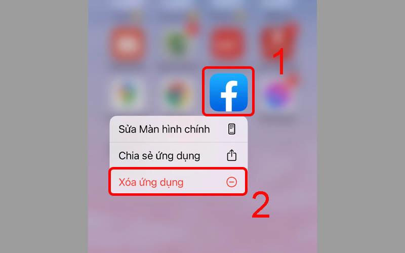 Xóa ứng dụng Facebook