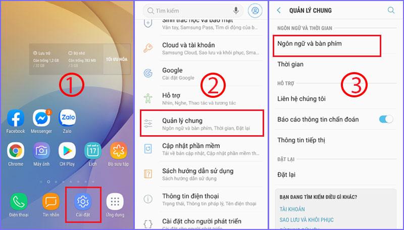 Cách thêm ngôn ngữ trên Android