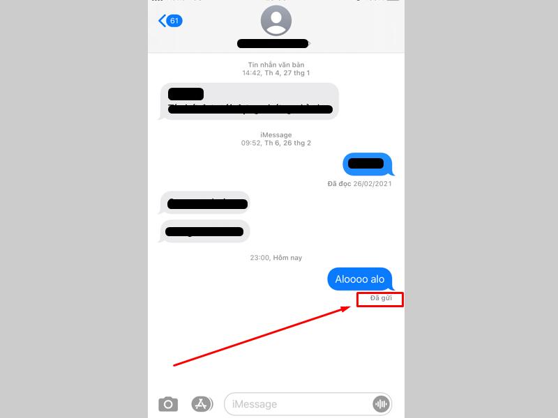 """Dòng chữ """"Delivered"""" (đã gửi) hiển thị khi gửi tin nghĩa là bạn chưa bị chặn"""