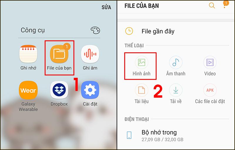 Tìm vào File của bạn đển xóa các mục