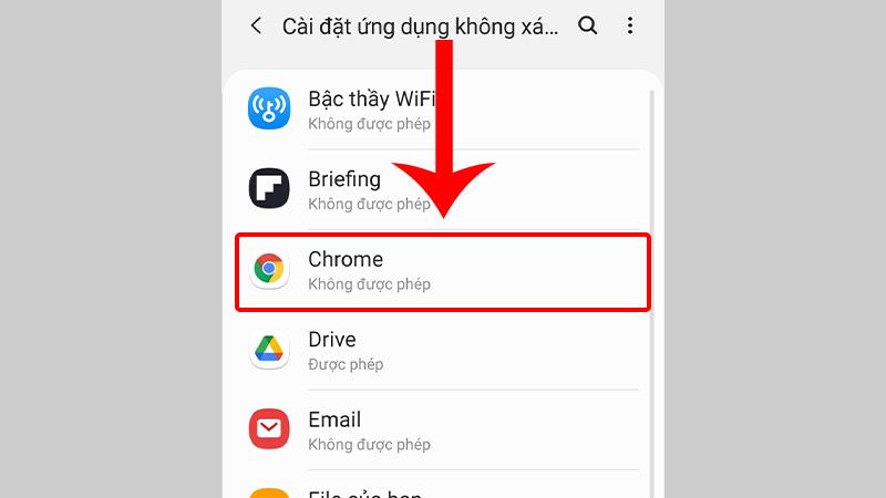 Chọn nguồn để tải các ứng dụng không xác định