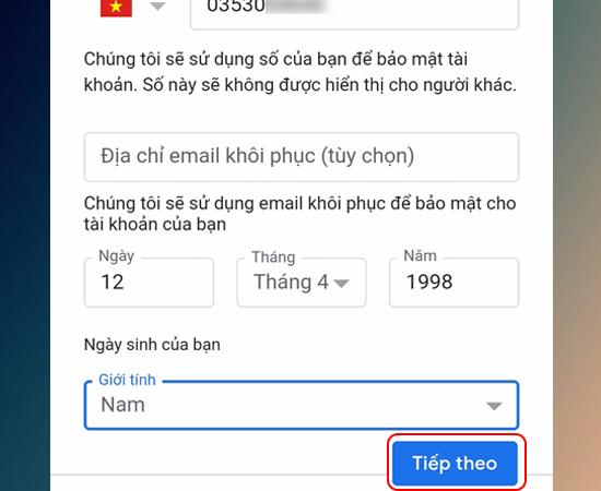 Hướng dẫn tạo tài khoản Google, CH Play, YouTube trên điện thoại