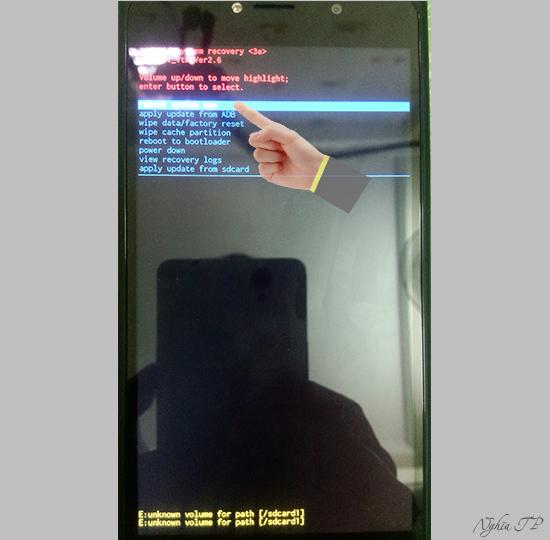 """Nhấn """"Nguồn"""" để chọn """"Reboot system now"""""""