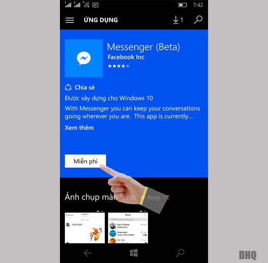 Tải ứng dụng Messenger Beta