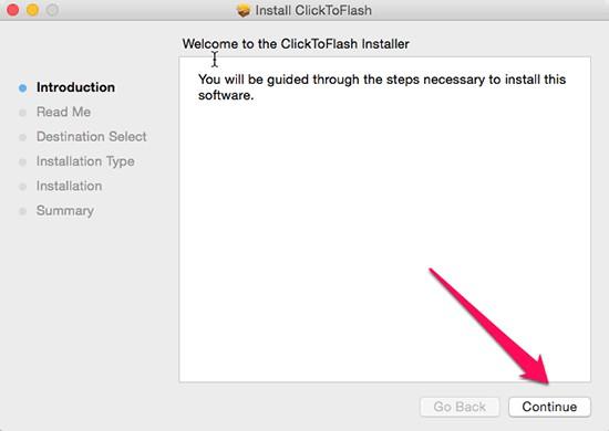 Sau đó bạn mở file cài đặt lên > Continue