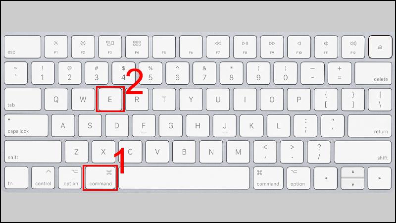 Ấn tổ hợp phím Command và phím E