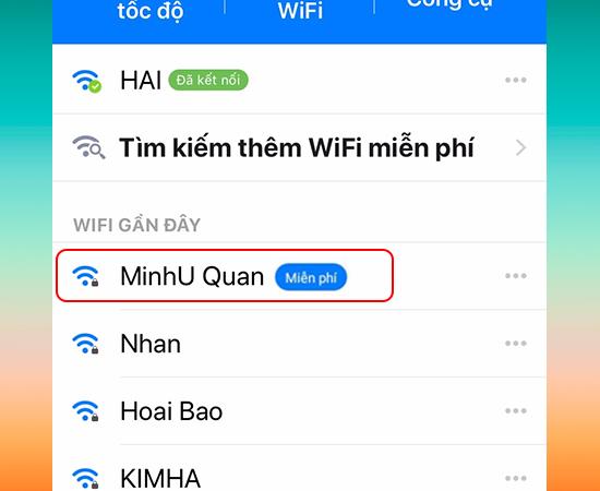 Truy cập vào mạng Wi-Fi miễn phí