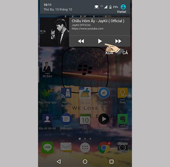 Nghe nhạc trên Youtube khi màn hình điện thoại tắt hoặc đang sử dụng ứng dụng khác 3