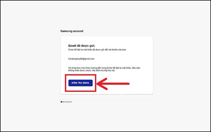 Chọn Kiểm tra email