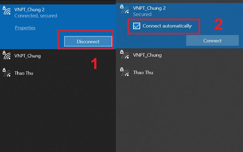 Lỗi WiFi không tự động kết nối