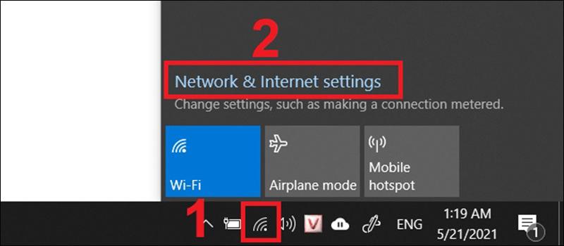 Khởi động lại adapter WiFi trên máy tính