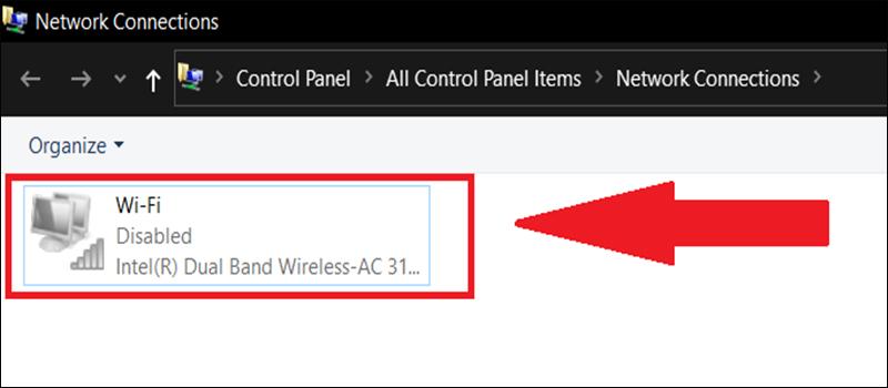 Bật WiFi adapter