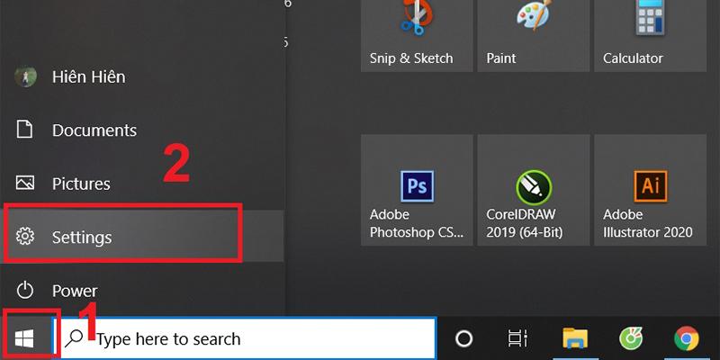 Vào Settings để sửa lỗi WiFi Limited trên Windows 10