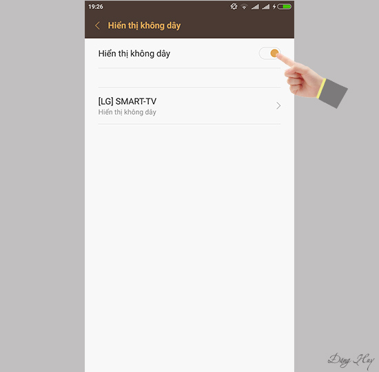 Bước 3: Bật Hiển thị không dây