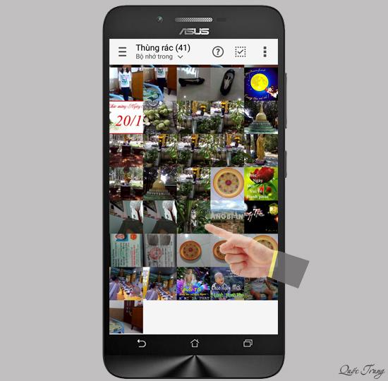 Cách lấy lại hình ảnh, video đã xoá trên Asus Zenfone