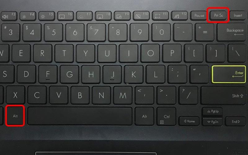 Nhấn tổ hợp phím Alt + Print Screen