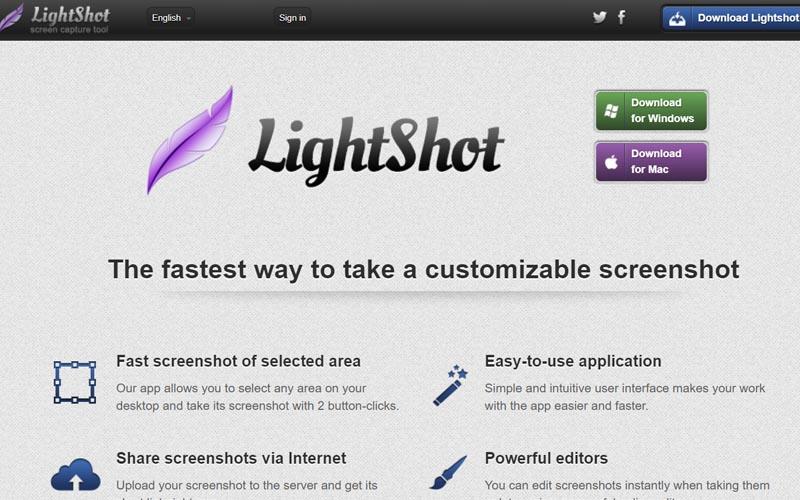 Phần mềm Lightshot chụp ảnh màn hình Windows, macOS