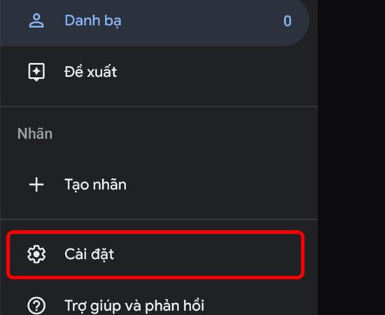 Hướng dẫnđồng bộ danh bạ trên Android vào Gmail Bước 2