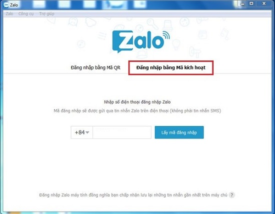 Image result for đăng nhập zalo trên máy tính