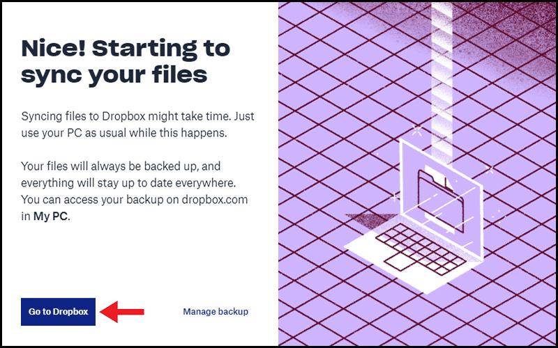 Đi đến Dropbox