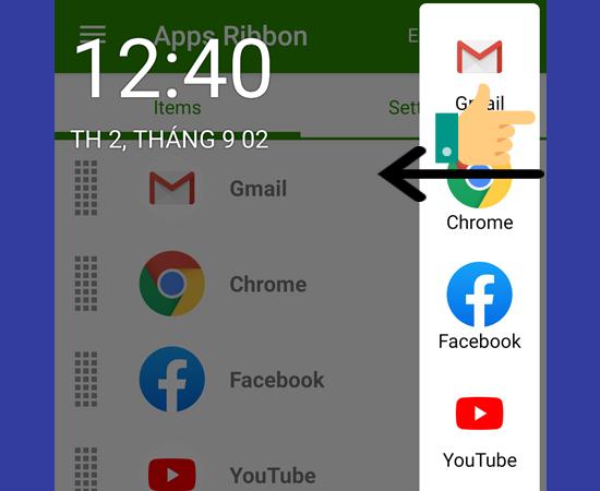 Bước 4: Bạn vuốt cạnh để trải nghiệm tính năng Edge Screen trên điện thoại.