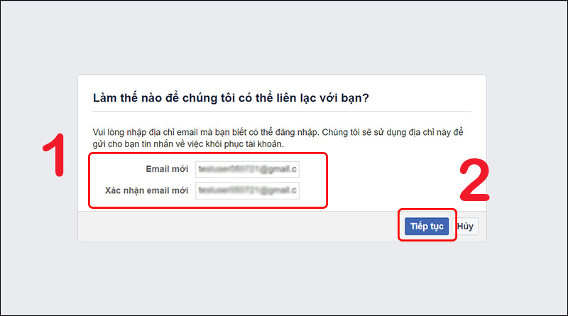 Nhập email mới để đăng nhập