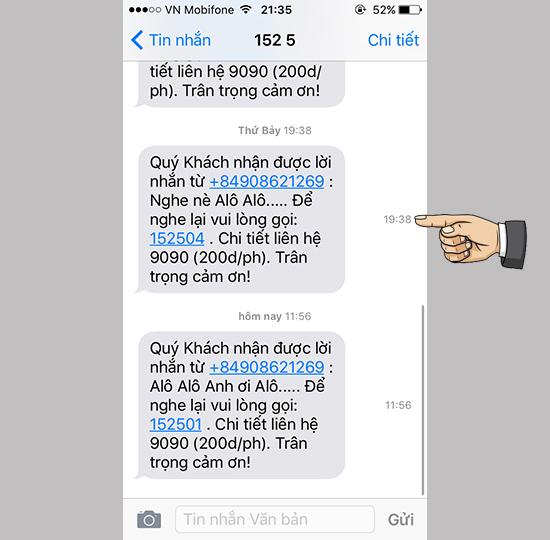 Cách hiển thị giờ nhận tin nhắn trên iPhone