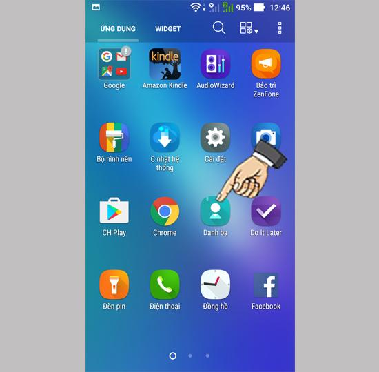 Cách chép danh bạ vào Asus Zenfone 3 Max 5 5