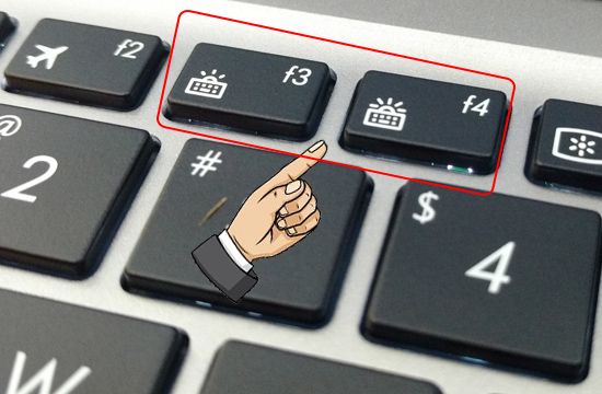 Tăng giảm hoặc tắt đèn bàn phím
