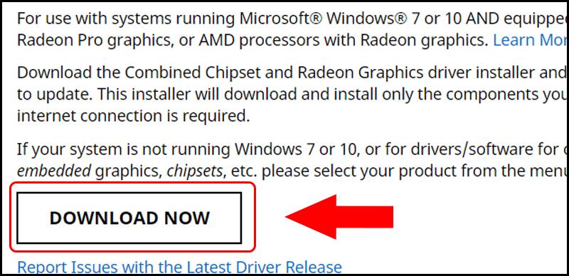 Download phần mềm quản lý đồ họa của AMD
