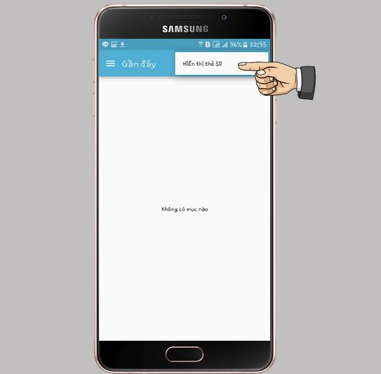 Chọn Hiển thị thẻ SD