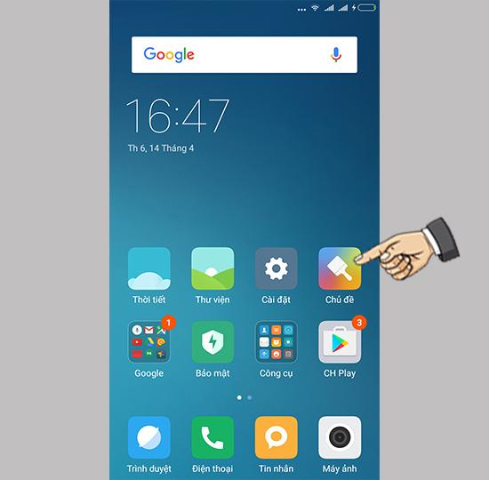 Thay đổi chủ theme trên Xiaomi Mi 5 - Thegioididong com