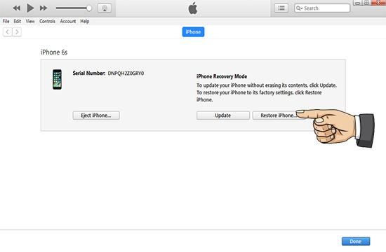 Shift + Restore iPhone