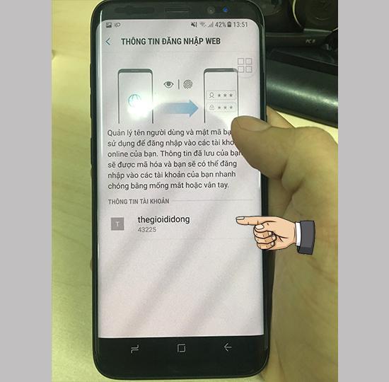 Tính năng Samsung Pass trên điện thoại Samsung Android 7