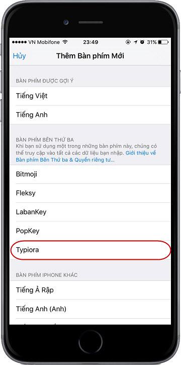 chọn dòng Typiora