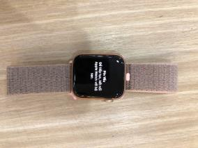 Apple Watch S4 GPS, 44mm Gold Aluminium Case with Pink Sand Sport Loop (MU6G2VN/A)