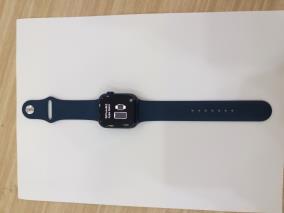 Apple Watch S6 GPS + Cellular, 44mm Blue Aluminium Case with Deep Navy Sport Band - Regular (M09A3VN/A)