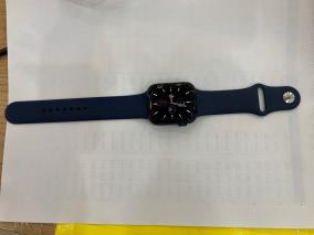 Apple Watch S6 GPS, 44mm Blue Aluminium Case with Deep Navy Sport Band - Regular (M00J3VN/A)