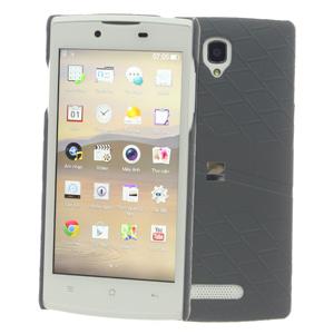 Ốp lưng - Flipcover điện thoại Ốp lưng da Oppo Neo 3 Zenus Xám