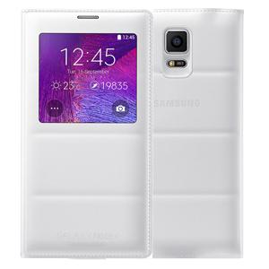 Ốp lưng - Flipcover điện thoại Bao da nắp gập S-view Galaxy Note 4 chính hãng Trắng