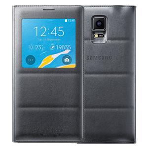 Ốp lưng - Flipcover điện thoại Bao da nắp gập S-view Galaxy Note 4 chính hãng Đen