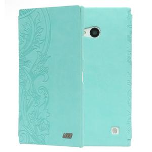 Ốp lưng - Flipcover điện thoại Ốp lưng da nắp gập Lumia 730 Coreka Xanh ngọc