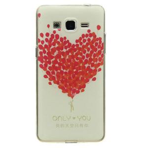 Ốp lưng - Flipcover điện thoại Ốp lưng Grand Prime Nhựa dẻo Cover kiss Hồng