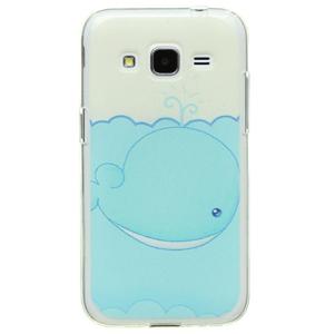 Ốp lưng - Flipcover điện thoại Ốp lưng Core Prime Nhựa dẻo Cover kiss Xanh Dương